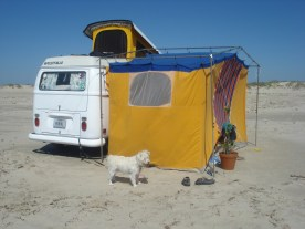 Beach Camping on Gulf of Mexico