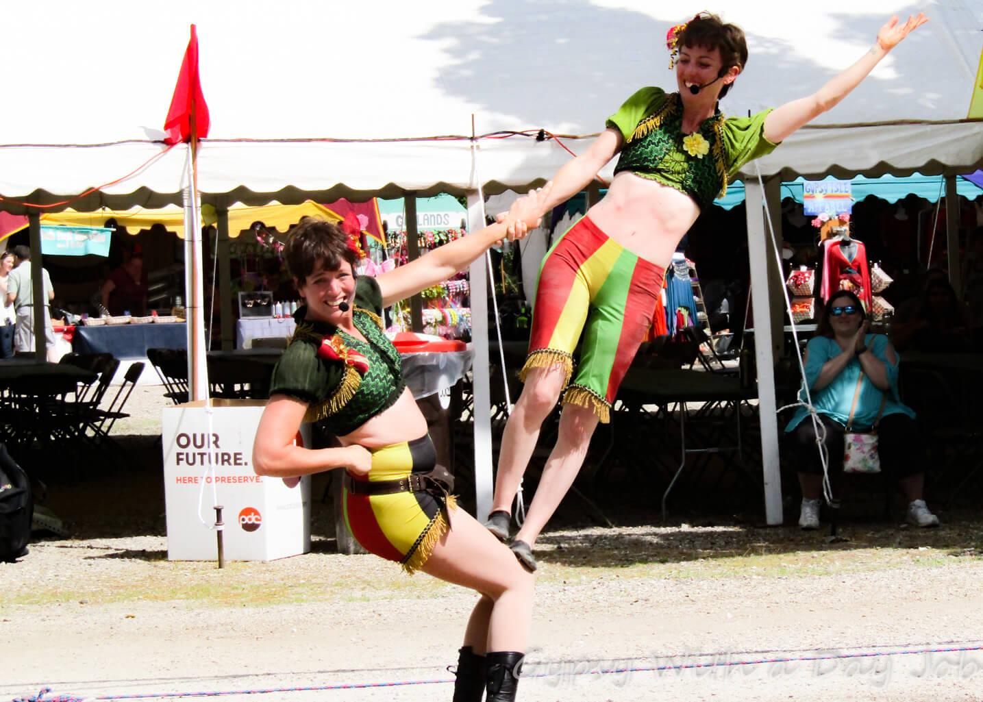 Acrobats Olde English Renaisance Wildlife Priaire