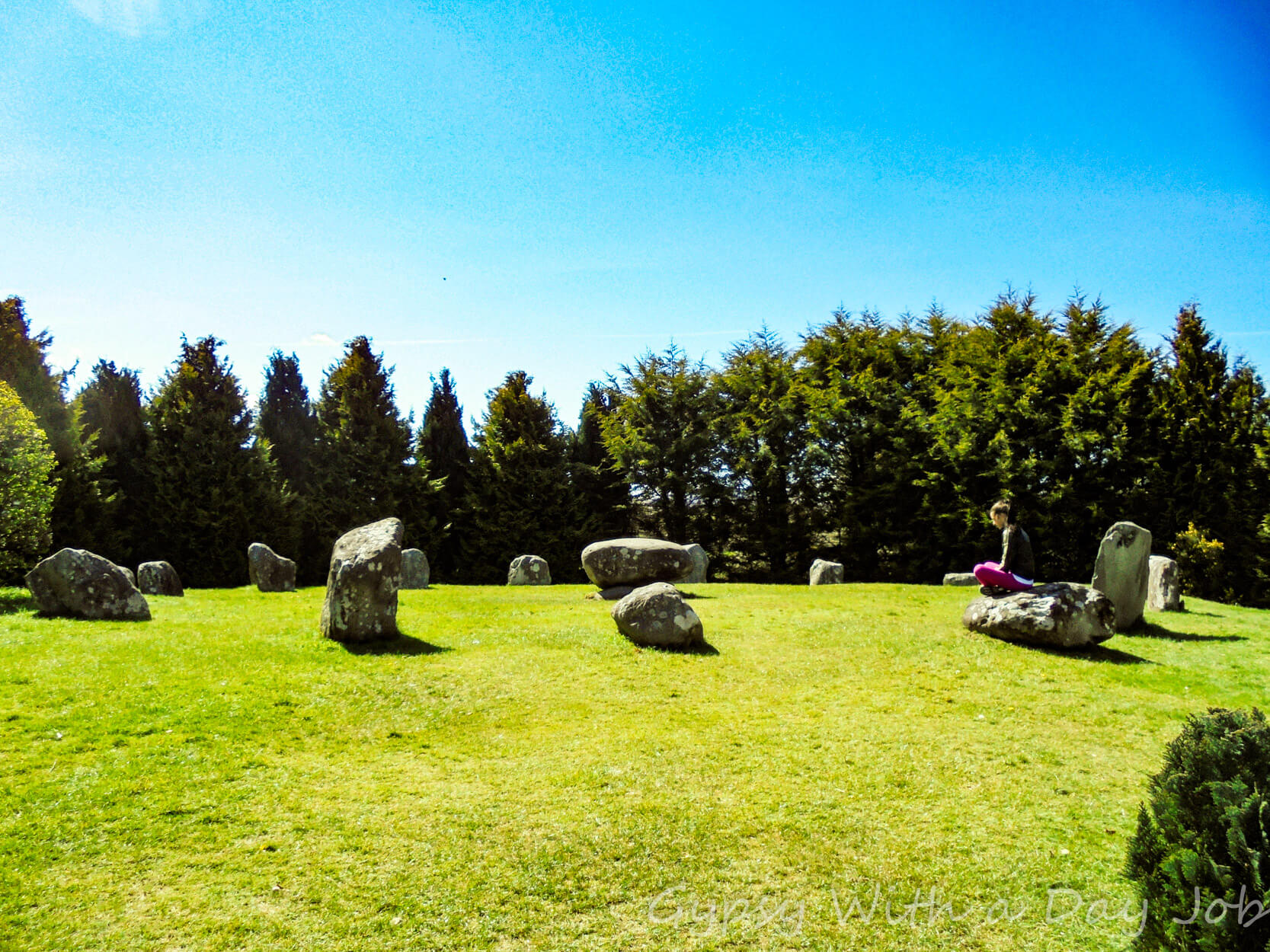 Sights on the ring of Kerry, the Kenmare Stone Circle.
