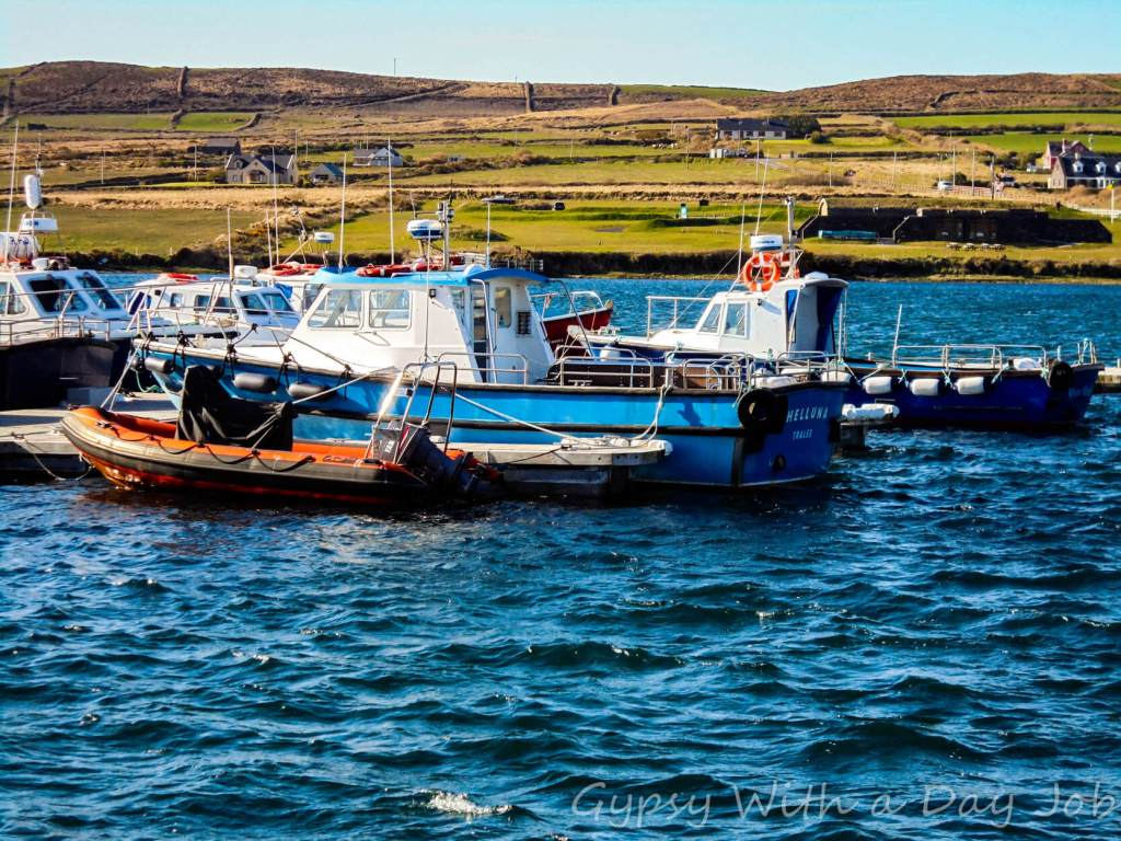 View of the bay, in Portmagee, Ireland.