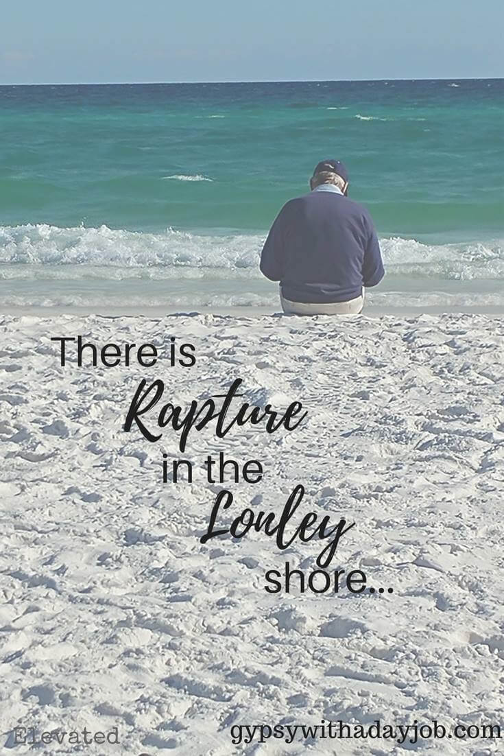 Inspirational travel quote, florida beach.