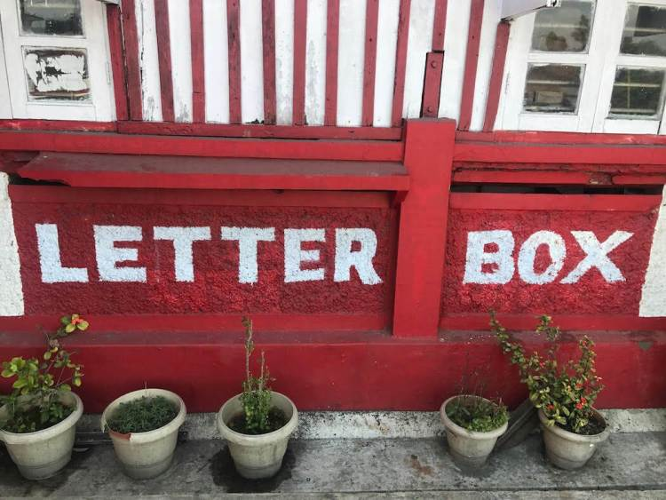 Delivering Love Letters Around the World, letter bx in India.
