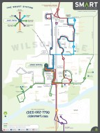 Wilsonville SMART Transit identity: System route map (Creative Director: Matt Giraud)