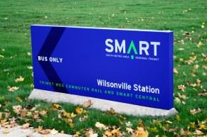 Wilsonville SMART Transit identity: Monument sign (Creative Director: Matt Giraud)