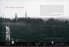 The first spread of the Reed Centennial Campaign case statement. To underscore the richness of what Reed had accomplished in 100 years, we designed a timeline to run the length of the book.