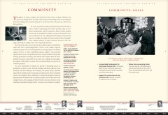 An interior spread from the Reed Centennial Campaign case statement.