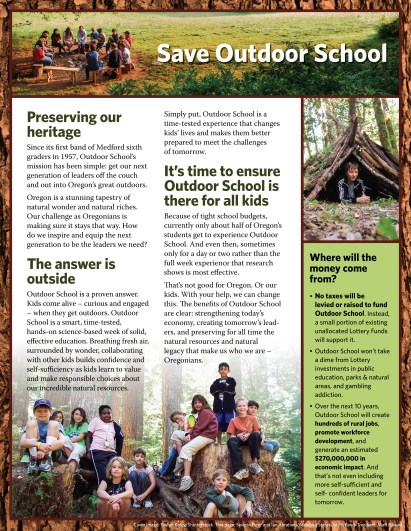 Outdoor School for All brochure (inside), by Gyroscope Creative