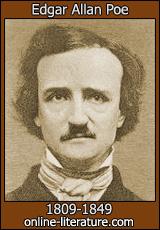 Portræt af Edgar Allan Poe. Hentet på http://www.online-literature.com/poe/