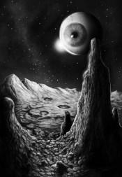 Illustration af D. S. Blake til Månen over Zneva af Chris D'Amato