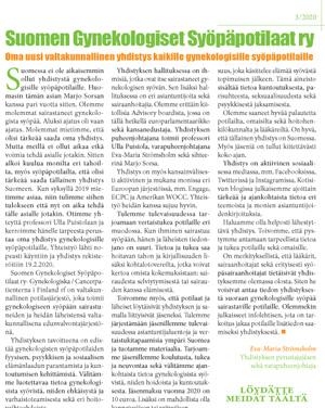 Lehtiartikkeli GYSY SSHL nro 3