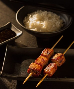PHP 220 - Wagyu Cubes (2 sticks) + 2 cups of plain rice