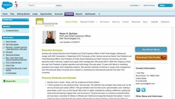 Boardroom Insiders AppExchange Profiles