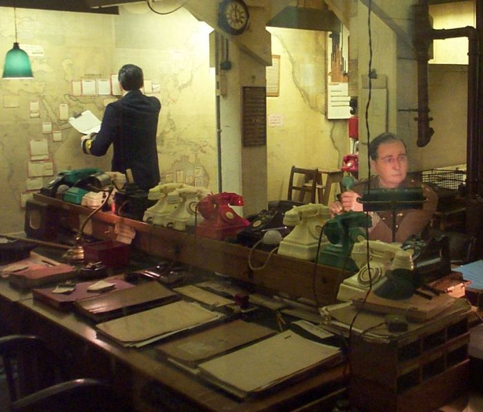 Churchill's WWII Map Room (Source: Creative Commons)