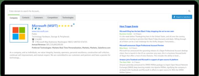 RampedUp Profiles now include account based scores (zero to five stars).