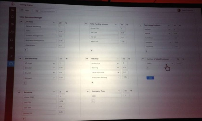 Zoominfo Scoring Models will be available later this year (or early 2019). This is a mockup shown at their user conference.