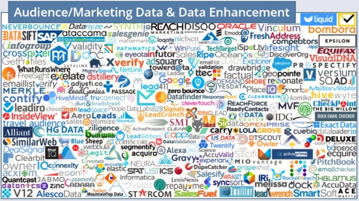 Audience / Marketing Data & Data Enhancement (2018 MarTech Landscape)