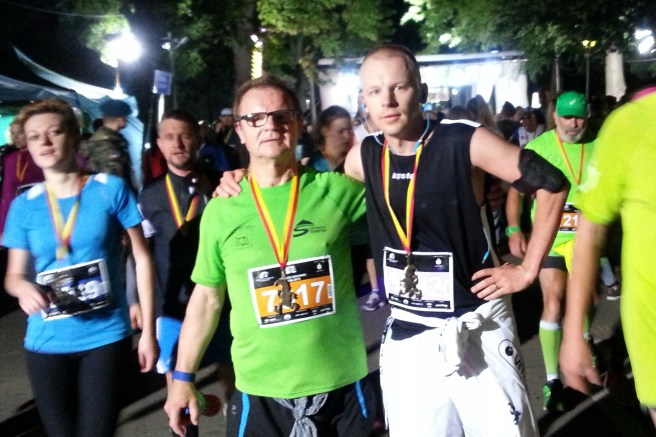 After half-marathon with my father