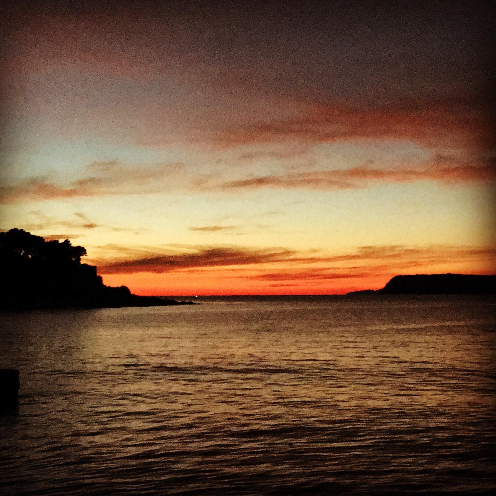 Sunset view from Lapad peninsula