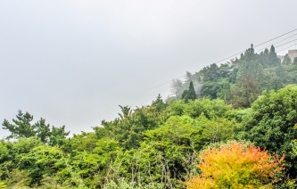 Foggy view from Mount Rokko