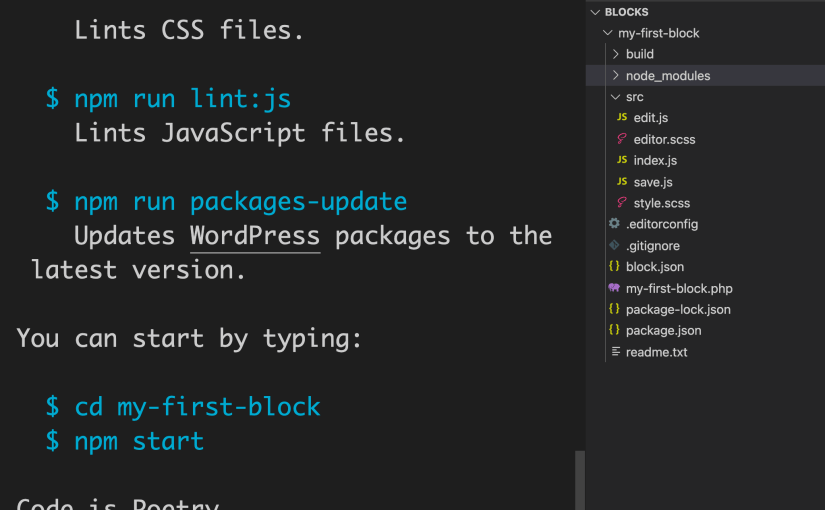 How to Start Block Development with Scaffolding