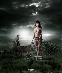 Art Work: Gonzalo Villar - Photo of model: Adrian