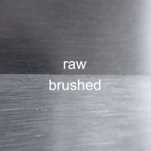 raw versus brushed mill finish aluminum