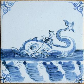 9302-Zeewezen-Nereide-auf-Riesenfisch