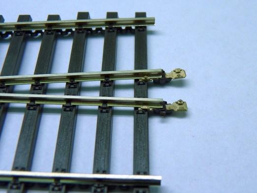 Weiche mit Schienenverbinder Original