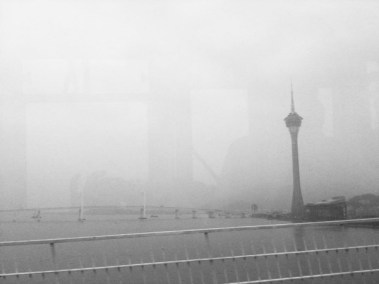 MISTY MACAU TOWER FROM BUS