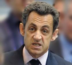 Sarkozy fait un peu la grimace