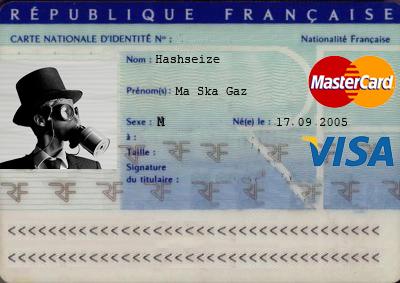 Carte d'identité - Visa  Mastercard