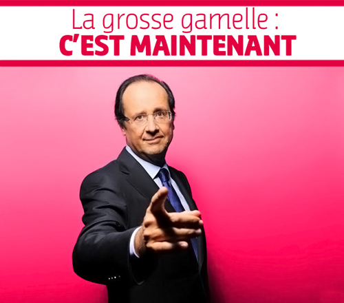 Hollande : la grosse gamelle, c'est maintenant