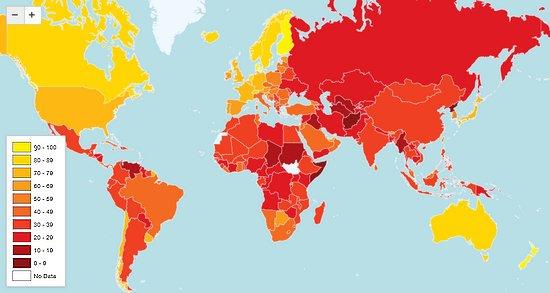 indice mondial de transparence 2012