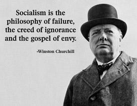 Winston Churchill Socialism