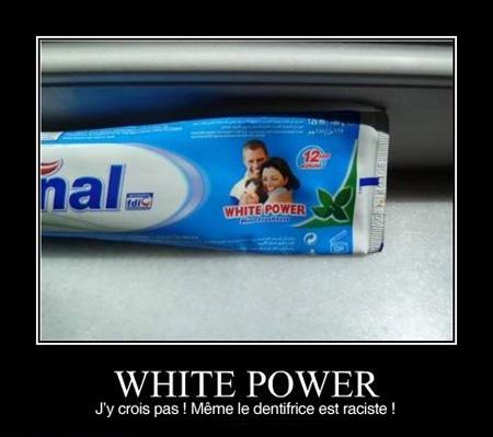 dentifrice raciste