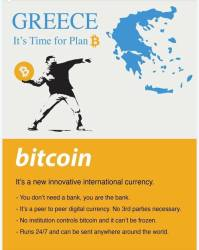 Bitcoin : Greece real plan b