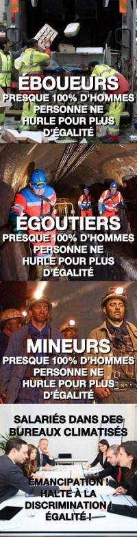 mineurs éboueurs égoutiers égalité des sexes