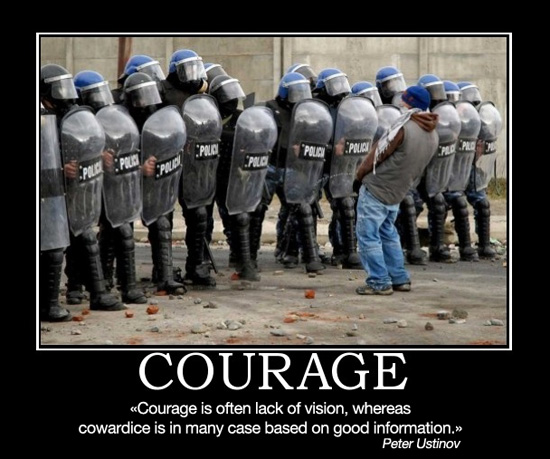 police - courage and cowardice