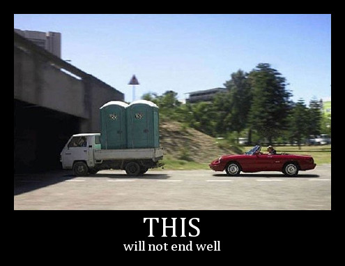this will not end well - car wc