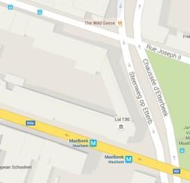 googlemaps - metro malbeek