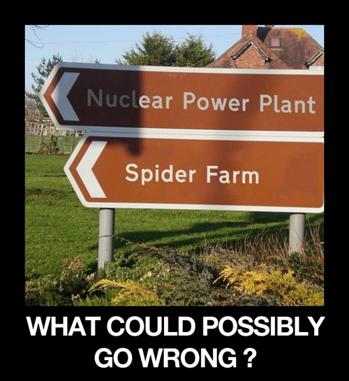 nuclear spider - what could possibly go wrong