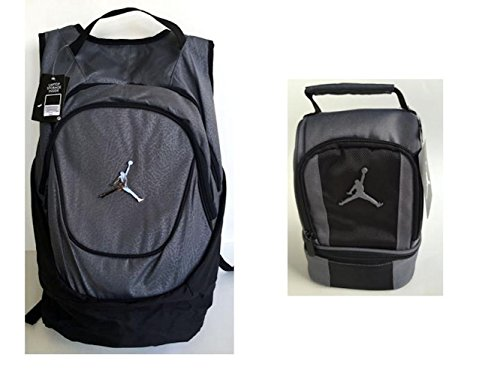 dac3c5ee7f98 ... Black Nike Air Jordan Jumpman 23 Gray Backpack and Lunch Tote Bag +  FREE Cell Phone Anti ...