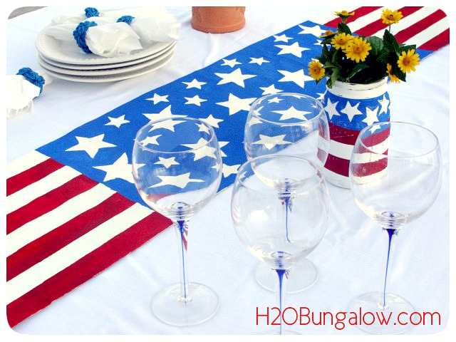 DIY-Patriotic-Table-Runner-At-Pretty-Waterside-Dining-H2OBungalow
