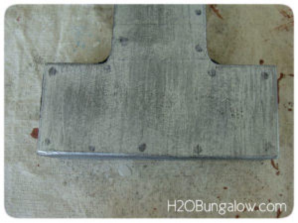 add rivets faux metal paint techniques