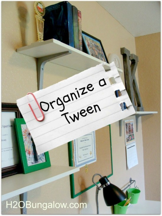 H2OBungalow.com: Organize a tween room and get rid of clutter