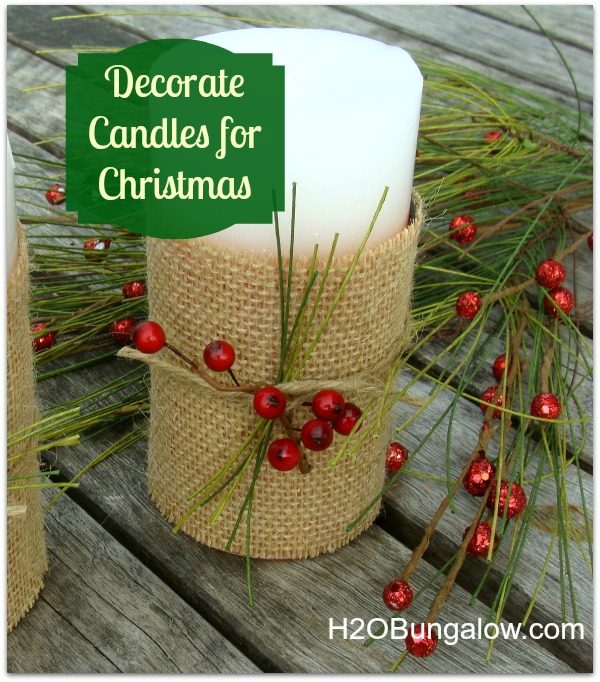 Candle decorating ideas for Christmas