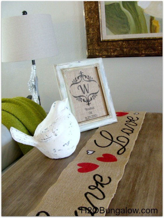 Easy Valentines Day Table Runner H20bungalow