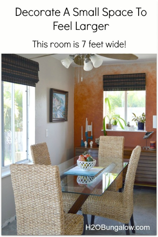Decorate A Small Space To Feel Larger This room is only 7 feet wide