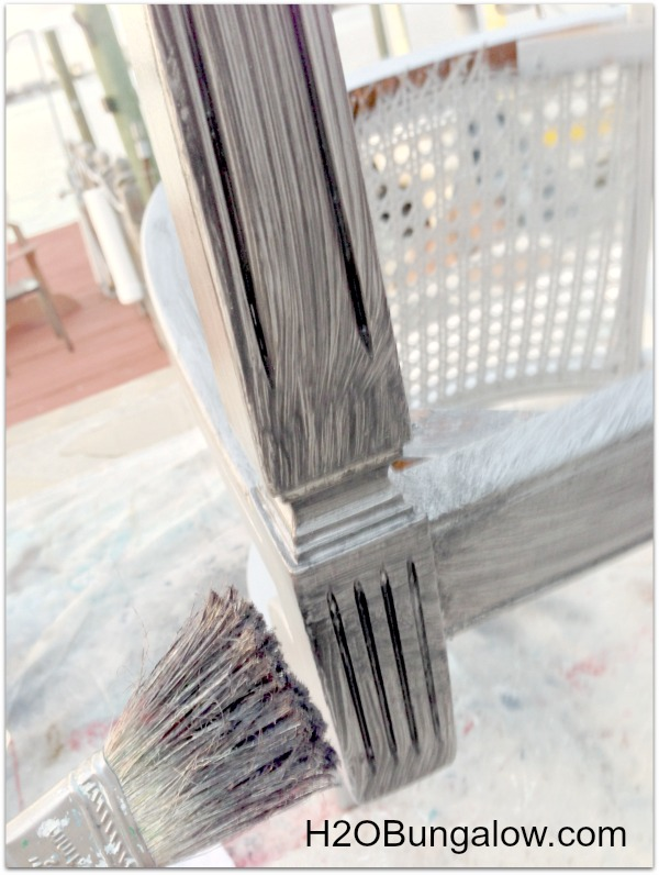 How to get aged silver finish on furniture with glazing at H2OBungalow.com