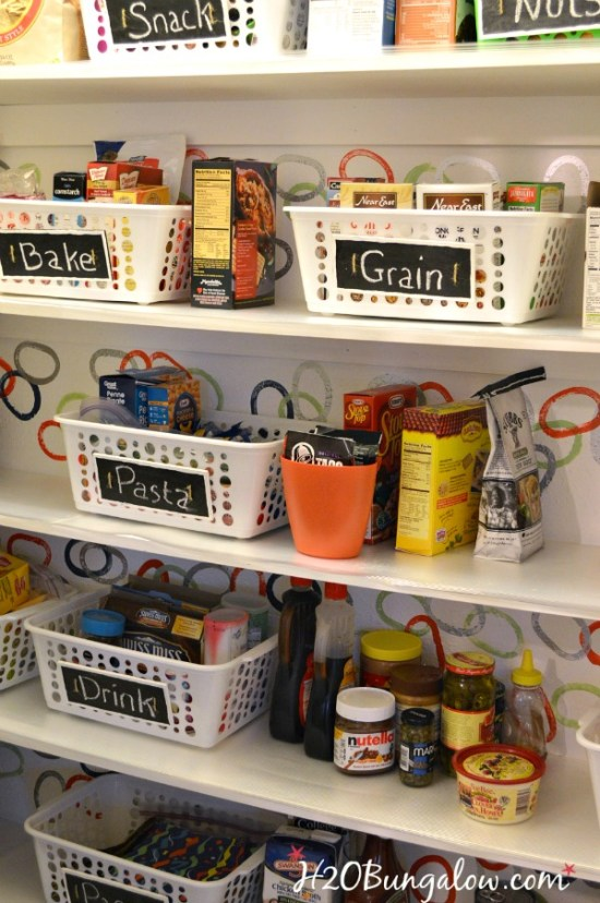 Organize your pantry with these tips, save space, clear the clutter and esily maintain it! www.H2OBungalow.com